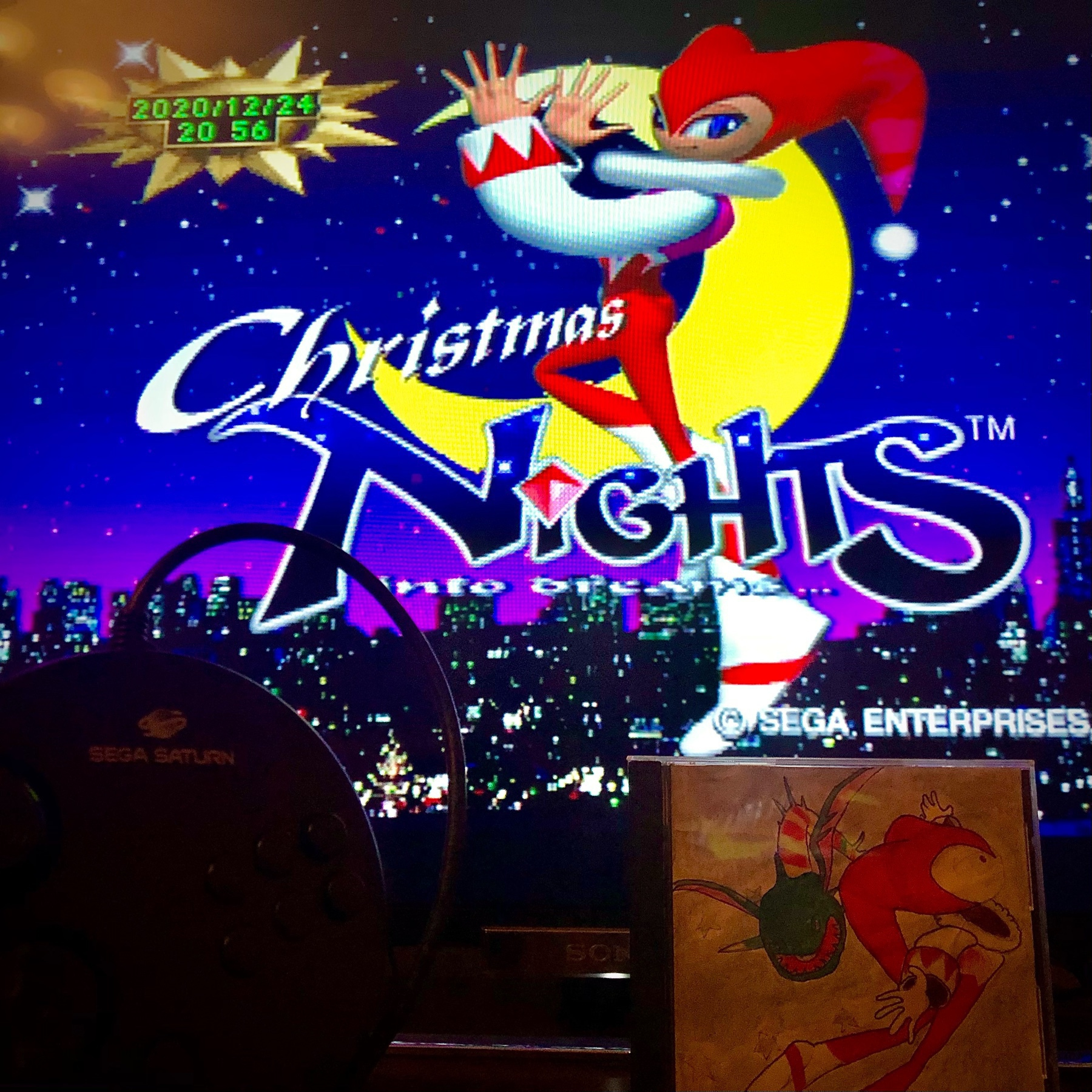 screenshot of Sega Saturn game Christmas NiGHTS