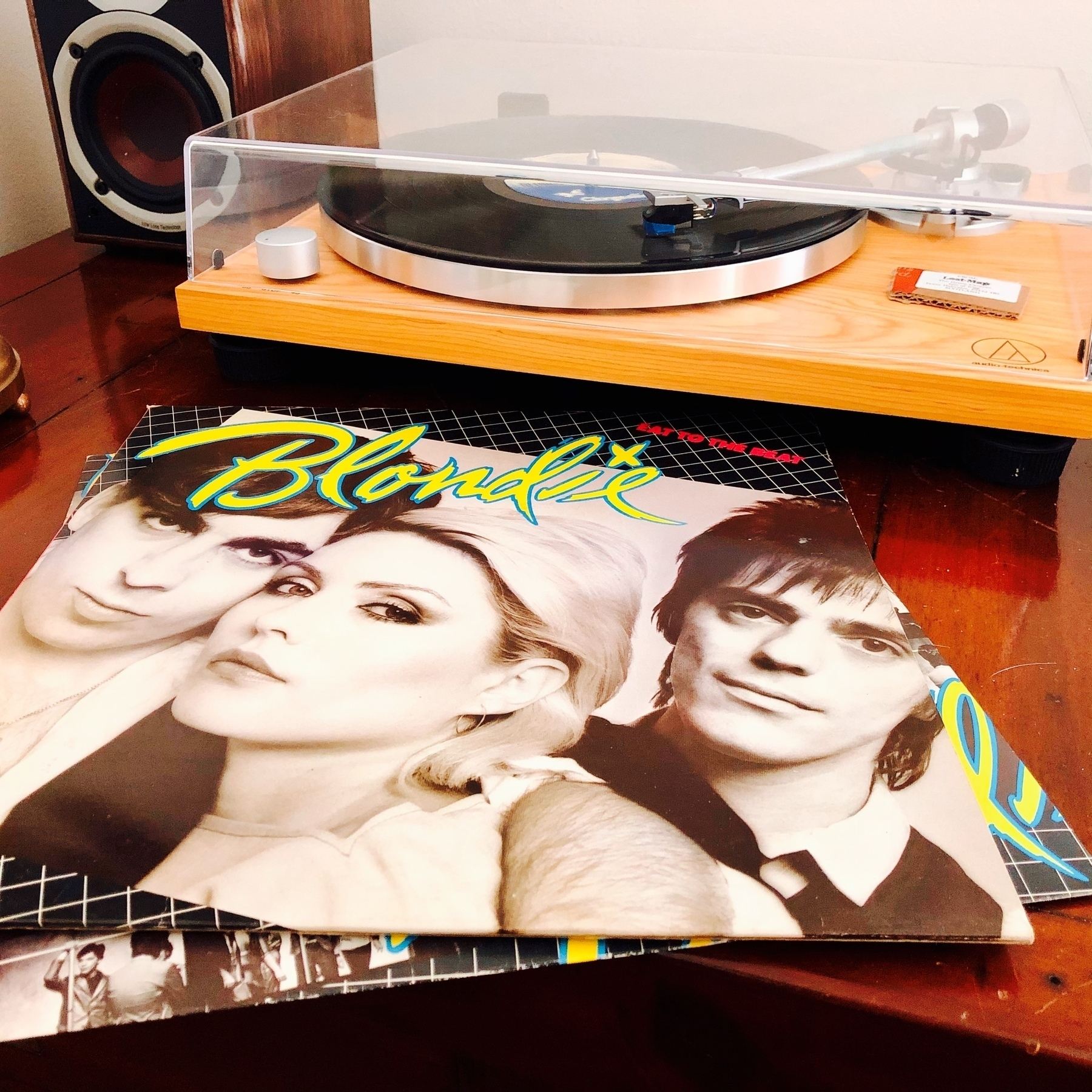 Blondie album Eat to the Beat on a record player