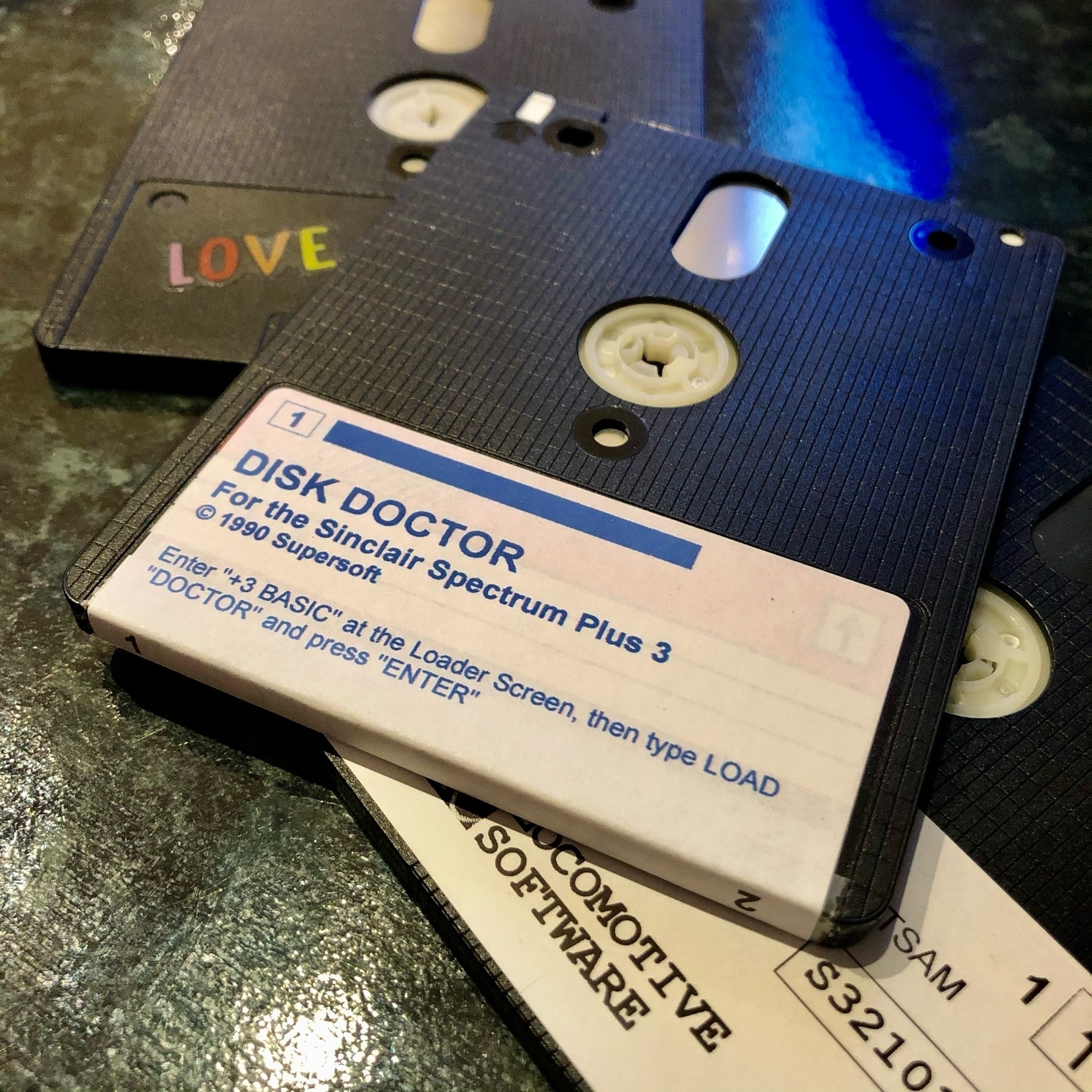 "3"" format floppy disk labelled ""Disk Doctor�"