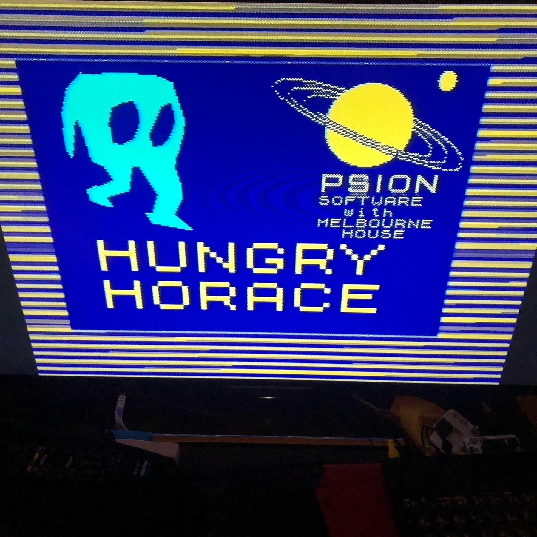 loading screen for HUNGRY HORACE